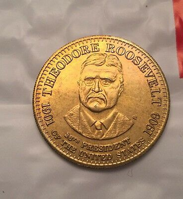 1992 SHELL PRESIDENTIAL COLLECTOR COINS. - Theodore Roosevelt