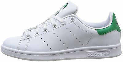 new product 0814f bbf88 Adidas Originals Stan Smith J Donna Ragazzo M20605 Bianco Verde White Tennis