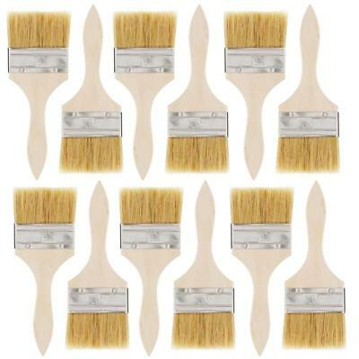 US Art Supply 12 Pack of 3 inch Paint and Chip Brushes for Paint, Stains,...