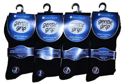 3 Pairs Gentle Grip Non Elastic Diabetic Soft Comfortable Cotton Socks UK