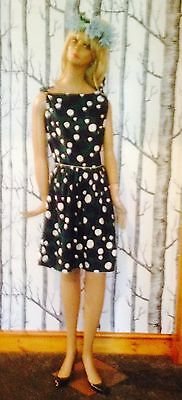 Vintage Polka Dot Frock Dress Size 10 Boho Retro 1980s Summer Tea Party
