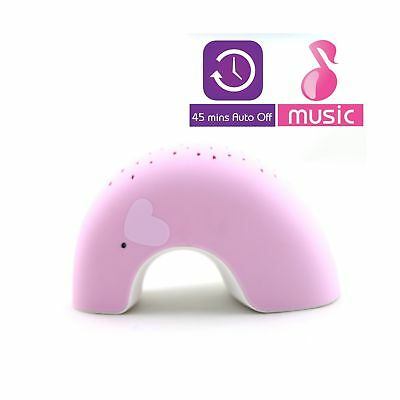 "Pink Elly ""Easy Clean, Lullaby Sound Machine"" Twilight Constellation Elephant..."