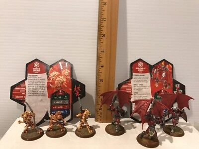 Heroscape Wave 2 Utgar's Rage Expansion Set, Drones and Minions + CARDS  6 FIGS