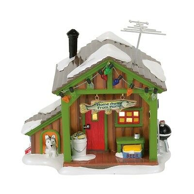 "Dept 56 Snow Village ""HOME AWAY FROM HOME FISH SHACK"" NIB 2017 FREE SHIP"