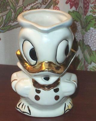 American Bisque Walt Disney Pottery Donald Duck Pottery Pitcher / Creamer 1946
