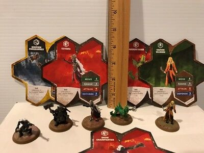 Heroscape CHAMPIONS  of the FORGOTTEN REALMS Wave 11-LOT 5 + CARDS DROW RAIDER