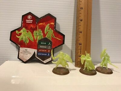 Heroscape CHAMPIONS  of the FORGOTTEN REALMS Wave 11-3 PHANTOM KNIGHTS + CARD