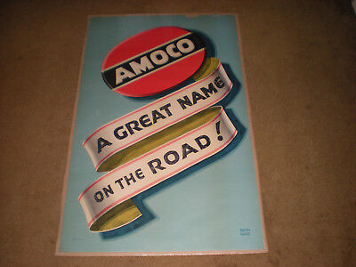 Extremely rare/htf Amoco 40's/50's advertisment (Lucian Bernhard) litho USA