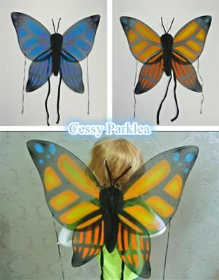 Adult Child Butterfly Angel Fairy Large Wings Nymph Pixie Costume Accessory