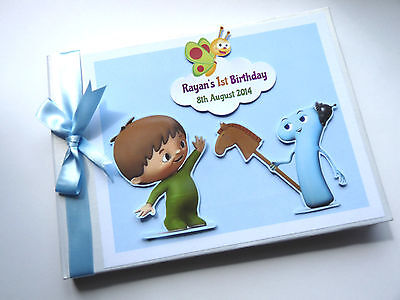 Personalised Baby Tv Charlie Boy/girl /first/1St Birthday Guest Book Any Design