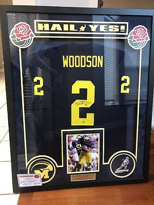 CHARLES WOODSON Autographed Signed Green Bay Packers Custom Jersey ... 7ca48ea16