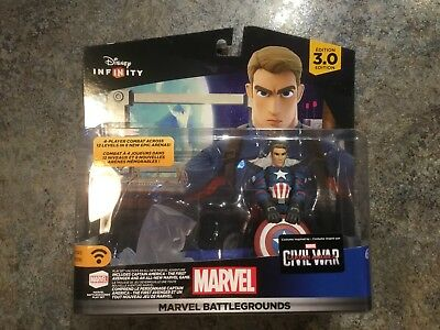 New Disney Infinity 3.0 Marvel Battleground Captain America Sealed Moc