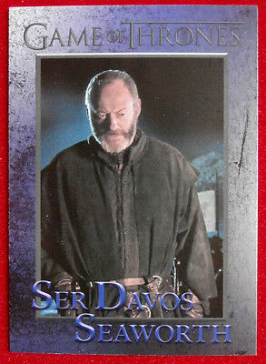 GAME OF THRONES - Season 4 - Card #43 - SER DAVOS SEAWORTH - Rittenhouse 2015