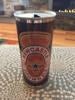 Vintage NewCastle Brown Ale Beer Can Case Of 24 Cans With A Case