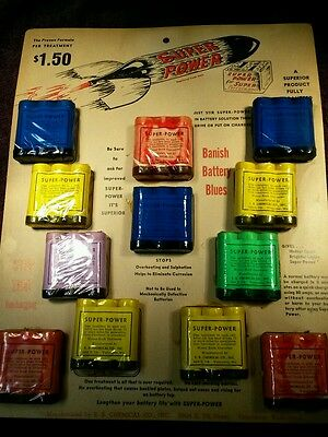 Vintage SUPER POWER Battery Treatment Sales Display E.B. Chemical CoVancouver WA