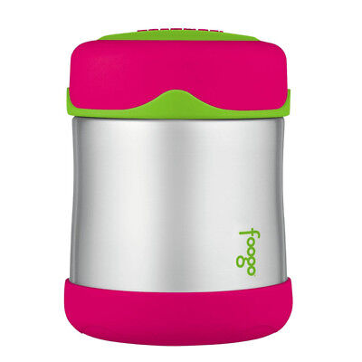 FOOGO Vacuum Insulated Stainless Steel 10-Ounce Food Jar, Watermelon/Green