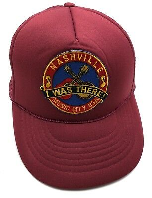 NASHVILLE TN   MUSIC CITY U.S.A. vintage trucker style adjustable cap   hat e9bf68add8f9