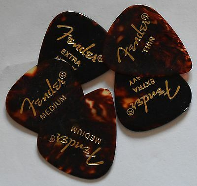 Fender Guitar Picks Shell 351 style 5 Picks Thin,Medium,Heavy or Extra heavy