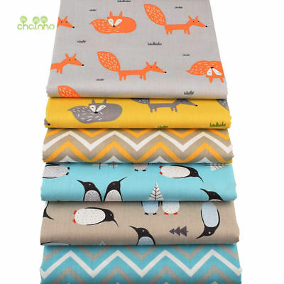 6pcs/lot,Cotton Fabric,New Fox&Penguin Series, DIY Sewing & Quilting Patchwork