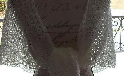 A lovely lacy hand crocheted shawl only £12.99