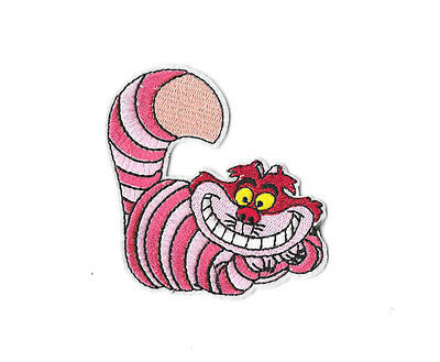 CHESHIRE CAT Iron on / Sew on Patch Embroidered Badge Cartoon Alice PT240