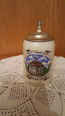8. IVV  Wandertag Burstadt-1994 German Beer stein