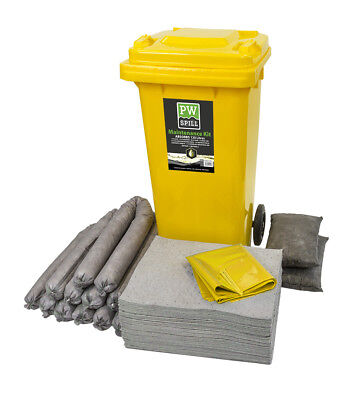 Portwest 120 Ltr Maintenance Spillage Kit Liquid Absorbency Janitorial SM33