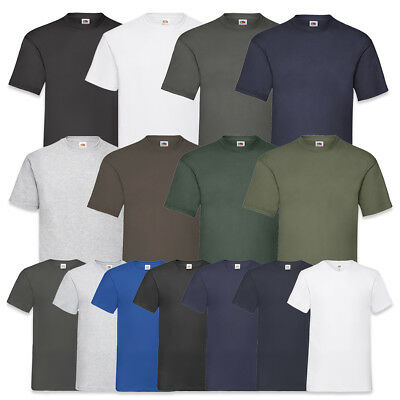 10 Fruit Of The Loom T Shirts Rundhals / V-Neck Baumwolle M L Xl Xxl 3Xl 4Xl 5Xl
