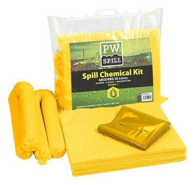 Portwest 20 Litre Chemical Spillage Kit (Pack of 6) Janitorial SM90
