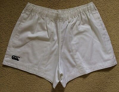 New Tagged Authentic Canterbury Rugby Union Shorts Pockets Mens 42 White Cotton