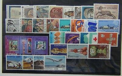 Cyprus 1974 1976 sets Studies Europa Telecoms Refugee UN Christmas Events MNH