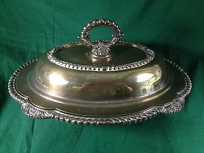 Melford M608 Vintage Covered Serving Dish--Very Heavy--Madery Wallace Stamp