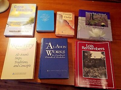 Lot of 7 Al-Anon Recovery Books Hard Cover & Soft, Self Help, Addiction VG!!