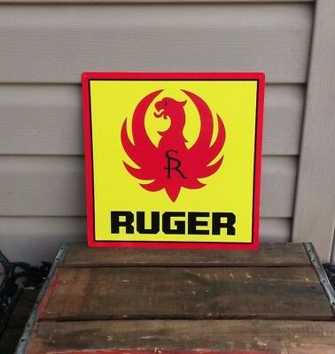 RUGER FIREARM METAL SIGN 9MM Eagle Logo Gun Shop HUNTING 12x12 50073