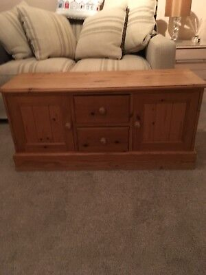 Antique Waxed Solid Pine Low Sideboard TV Cabinet Great Condition