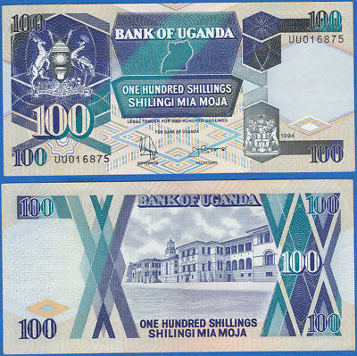 Uganda 1994 100 Shillings P-31c UNC - US-Seller