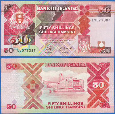 Uganda 1994 50 Shillings P-30c UNC - US-Seller