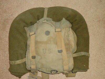 Original Authentic registered WWII 1945 Rucksack Military Backpack US Army RARE!