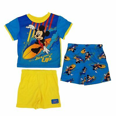 Disney Mickey Mouse Toddler Boys 3 Pc Pajama Set NWT Size 2T  or  3T   MSRP $32