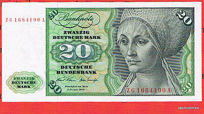 20 DM 1970 ZG/A Austauschnote aUNC Ros.271 c Pick 32 a Germany Deutsche Mark