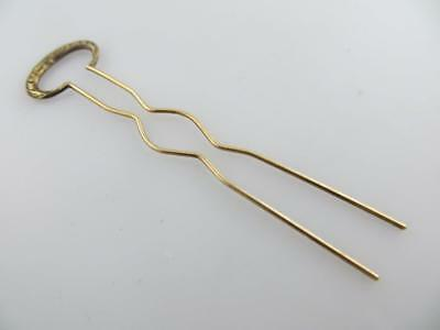 14K Yellow Gold Hair Pin Hairpin Vintage Accessory .96 Grams