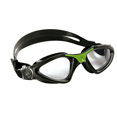Aqua Sphere Kayenne Swimming Goggles  Black / Green Clear Lens