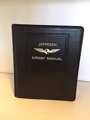 Jeppesen Airway Manual Binders  aus Leder Top Zustand