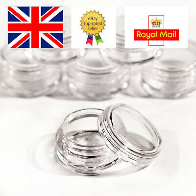 20 x 5ml Empty Clear Plastic Pot with Clear For Samples Travel Cosmetics jdc20