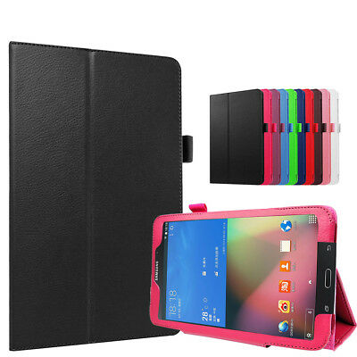 "Leather Stand case Flip Cover For Samsung Galaxy Tab 4 8.0"" SM-T330 + Clear Film"
