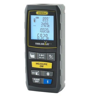 General Tools TS01 ToolSmart Bluetooth Connected Laser Distance Measure NIB
