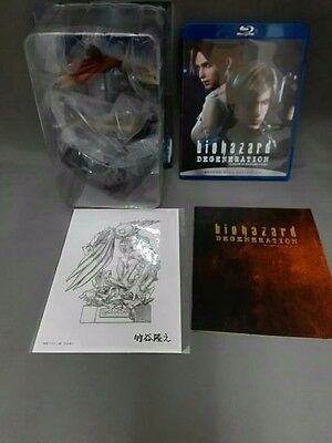 Japan Limited Animation Biohazard Resident Evil Degeneration Blu-ray Figure BOX.