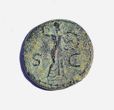 Claudius the emperor who conquered England, Ancient roman coin As MINERVE. nº 3