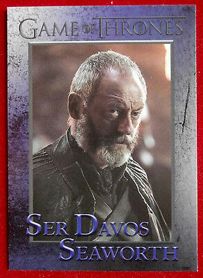 GAME OF THRONES - Season 5 - Card #40 - SER DAVOS SEAWORTH - Rittenhouse 2016
