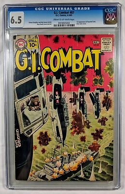 G.I. Combat #87 CGC 6.5 (Fine+) C/OW Pages - 1st Haunted Tank